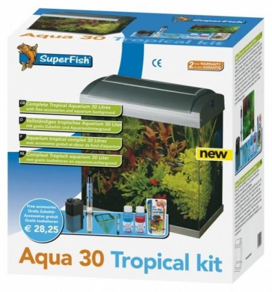 SuperFish Komplett-Aquarium AQUA 30 TROPICAL START KIT