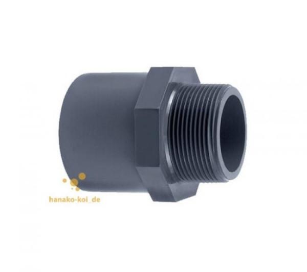 PVC-Gewindestück d 75/90 x 2&quot außen