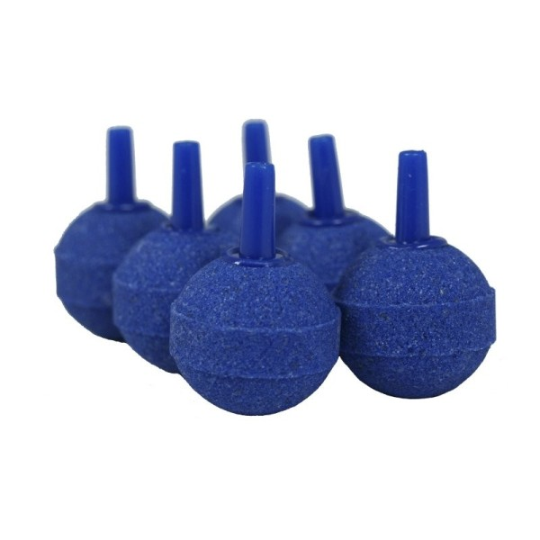 6 X Belüfterstein blau Luftausströmer Kugeln Ø 25mm