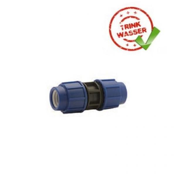 PE Rohr Kupplung Verschraubung Performance DVGW - Trinkwasser geeignet