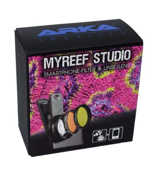 MyReef Studio Smartphone Kamera-Aufsatz mit Filter und Linse für perfekte Aquaristik- und Teichbilde