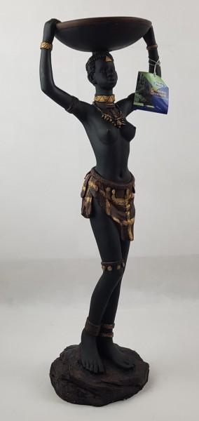Teichfontäne Afrikanische Figur Deko 78 cm Höhe