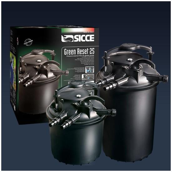 SICCE Teichfilter Green Reset 25 Druckfilter mit UVC