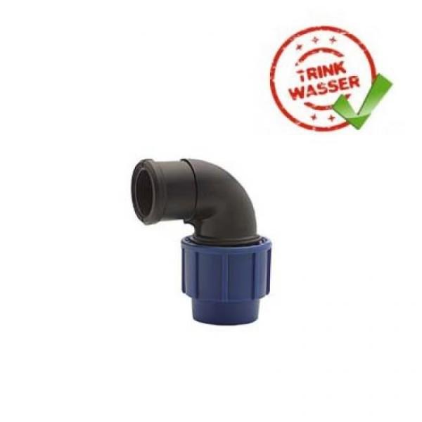 PE Rohr Übergangswinkel 90° mit Innengewinde Performance DVGW - Trinkwasser geeignet