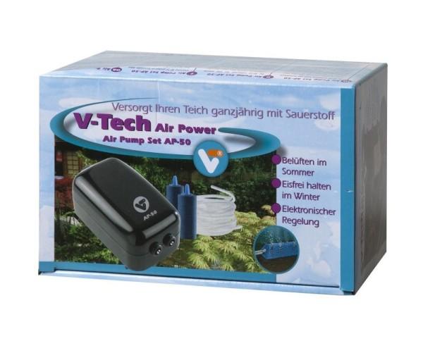 Velda V-Tech Air Pump Set AP-50 Teichbelüftung inkl. Luftschlauch + Luftsteine