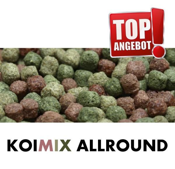 KOI PONDLIFE Koifutter Allround Ø 6mm, 5 Sorten Mix, Koifutter Fischfutter 15 Kg