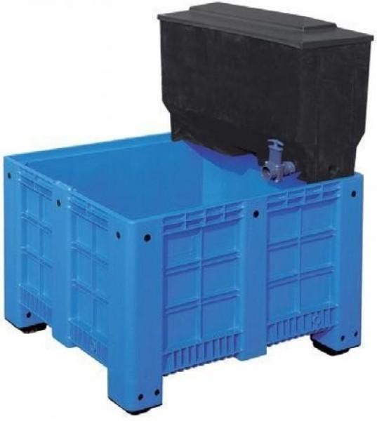 Xclear Fisch Becken 600 L + Aufsatzfilter 220 L + stopp + Ablauf mit Zugschieber