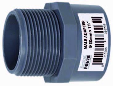 """PVC Übergangsmuffennippel mit Außengewinde 40mm x 1¼"""" ECONO-LINE 10 Bar"""