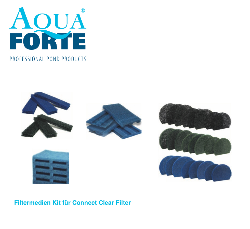Filtermedien kit f r connect clear filter komplett sets for Koi connect