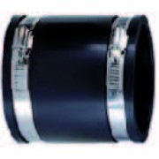 Flexible Muffe 40mm inkl. Spannringe - Klemmbereich 41-38 mm