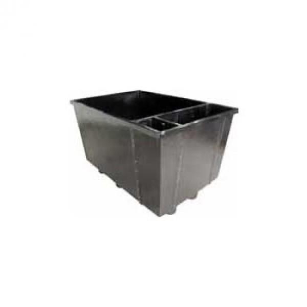 ECO Hälterungsbecken komplett mit Innenfilter, Füllpaket und Verrohrung 170 x 115 x 105 cm