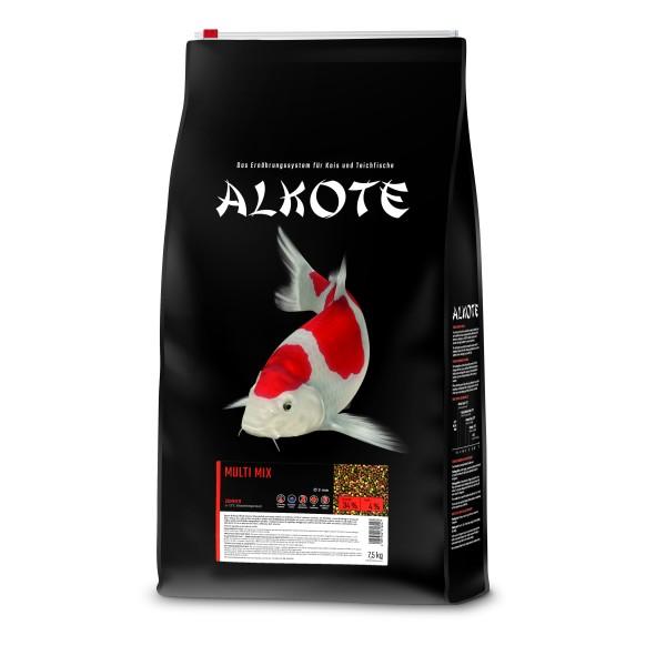 Alkote Koifutter Multi Mix (7,5 kg / Ø 3 mm) Basisfutter ideal für die Sommermonate