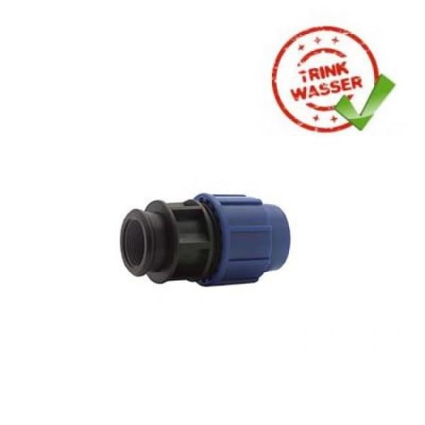 PE Rohr Übergangskupplung mit Innengewinde Verschraubung Performance DVGW - Trinkwasser geeignet