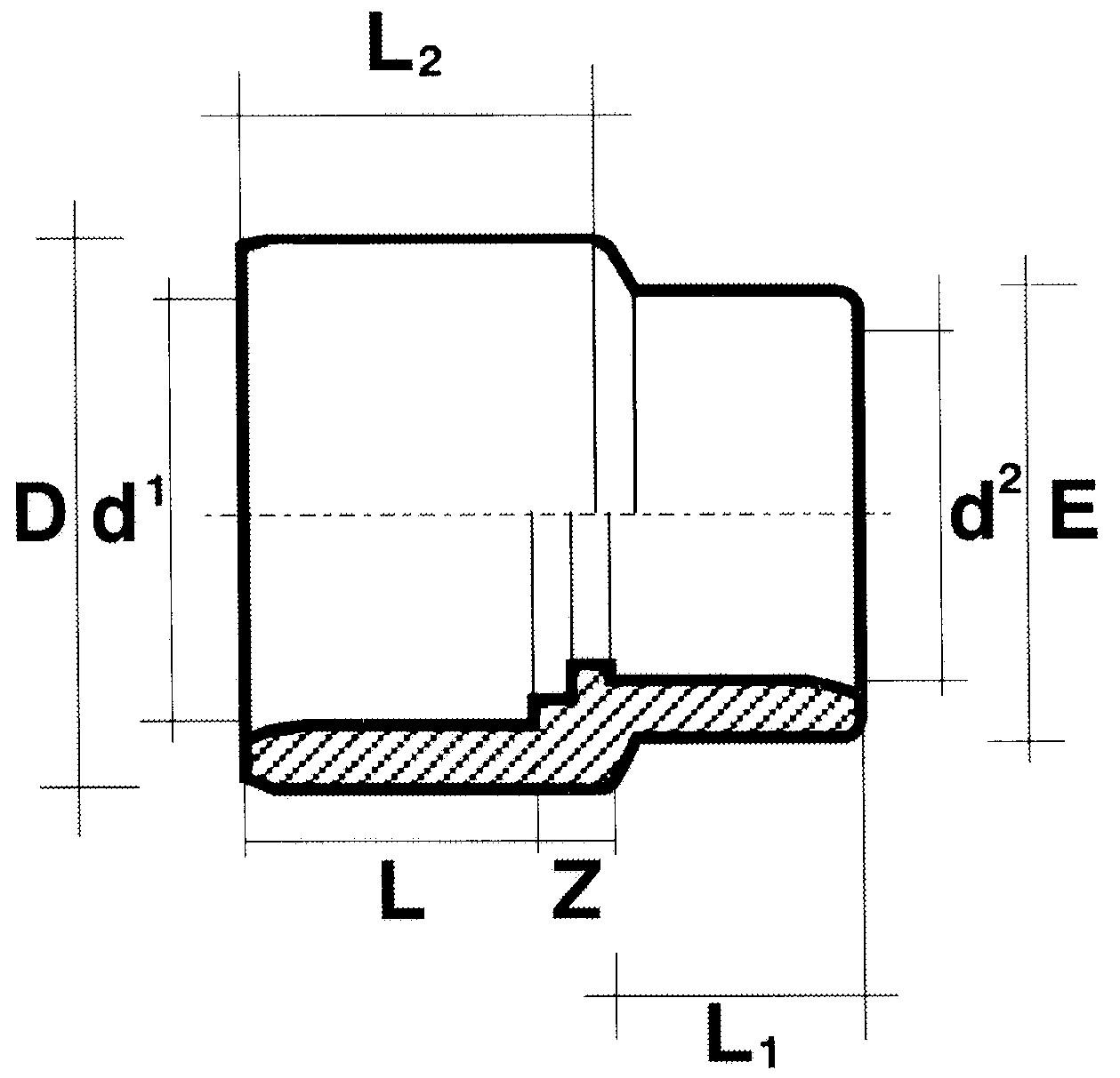 Reduziermuffe PVC 63-75 x 50 mm