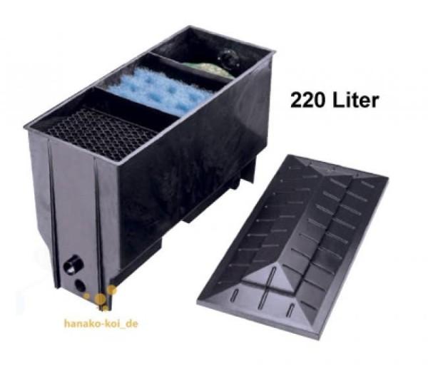 Xclear PE 3-Kammer (220 Liter) Teichfilter bis 8000 L