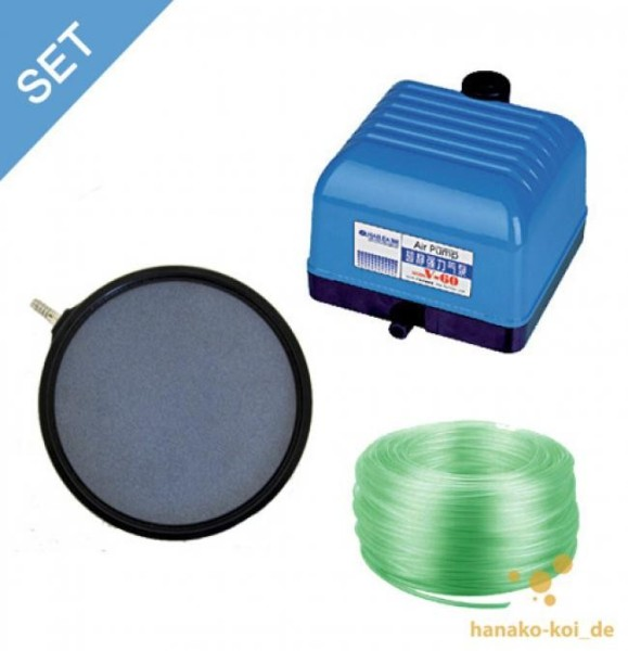 V - 30 Belüftungs - SET - 1800 l/h (Pumpe+Belüfterplatte+Schlauch)