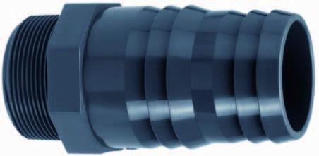 PVC-Schlauchtülle mit AG 3/4&quot x 25