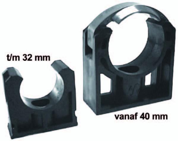 PVC-Rohrklemme Ø 40