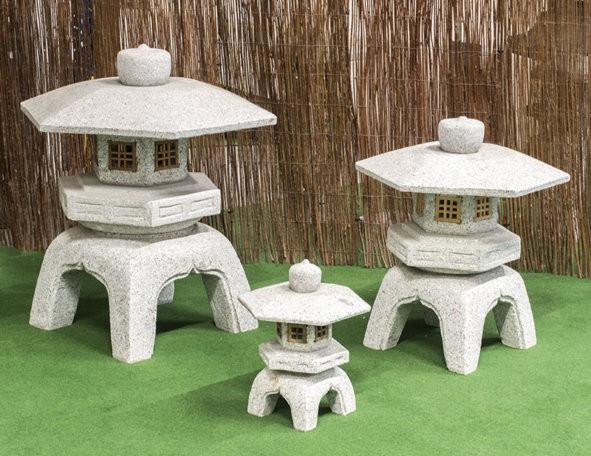 """Granitstein """"Kadai Yukimi mit Holzfenster"""" klein"""
