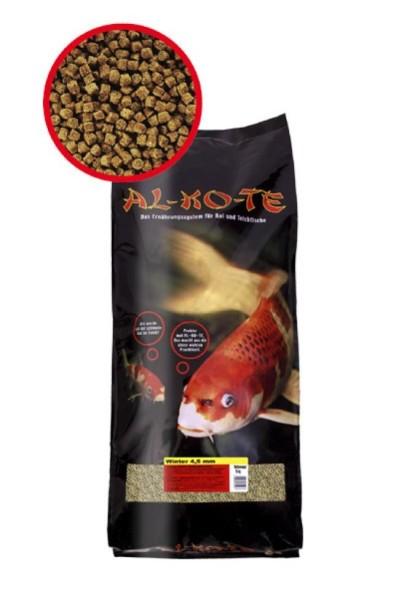 Alkote Koifutter Winter (10 kg / Ø 4,5 mm) Sinkfutter für kalte Wassertemperaturen