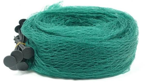 Pondlife Teichnetz 6x10m dunkelgrün, engmaschig: Maschenweite 15mm x 15mm, Laubnetz, Teichabdecknetz