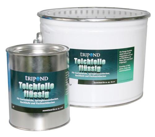 Tripond Teichfolie flüssig 10L / 15m² schwarz