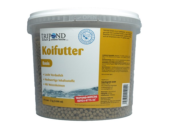 Tripond Koifutter 2kg Basis 3mm