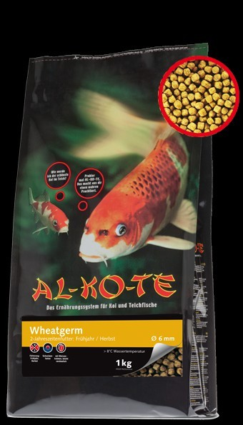 Alkote Koifutter Wheatgerm (3 kg / Ø 3 mm) Futter für Frühjahr/Herbst