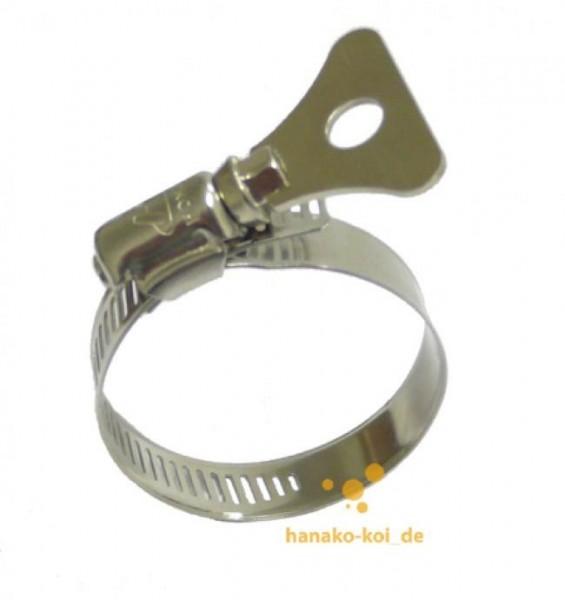 Pondlife Schlauchschelle + Flügelmutter (21-38 mm) Edelstahl