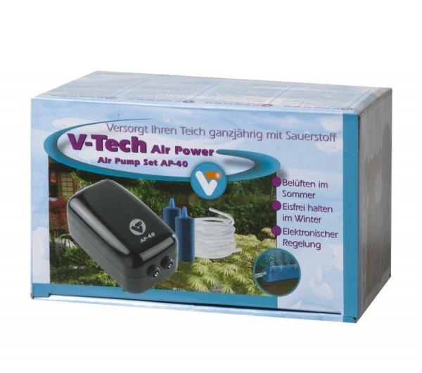 Velda V-Tech Air Pump Set AP-40 Teichbelüftung inkl. Luftschlauch + Luftsteine