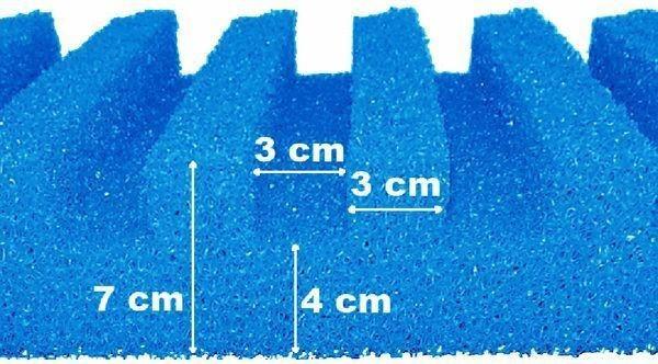 T-Profil Filterschaum 50 x 50 x 7 cm grob PPI10