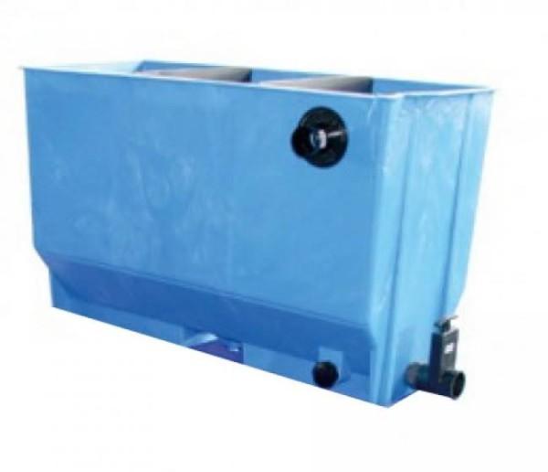 VG 3-Kammer-Aufsatzfilter 220L (blau) komplett mit Füllpaket
