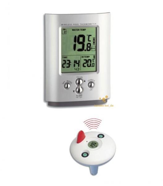 Funk-Poolthermometer für Schwimmbad und Teich (-20°C bis +50°C)