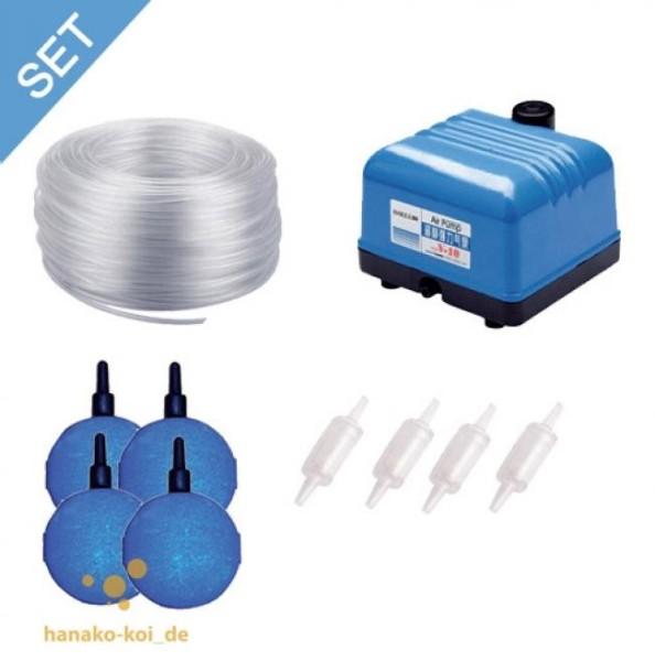 Hailea V-10 Belüftungs - SET - 600 l/h (Pumpe+Steine+Schlauch+Luftverteiler)