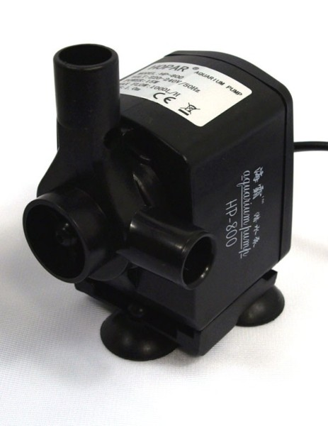 Aquarienpumpe HP-800 Strömungspumpe Förderpumpe inkl. Zubehör 1000 l/h