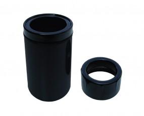 Aquaforte Schwimmskimmer schwarz inkl. Reduzierung