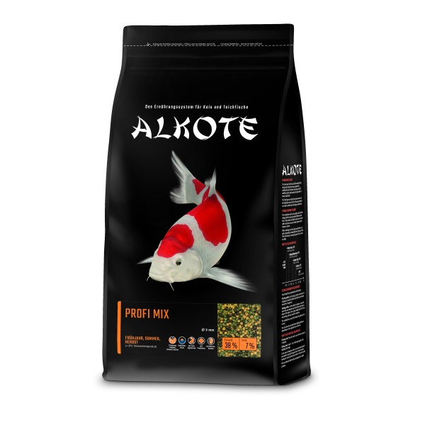 Alkote Koifutter Profi Mix (1 kg / Ø 3 mm) Leistungsfutter für Frühjahr u. Herbst