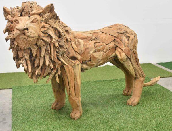 Teak-Holz Löwe