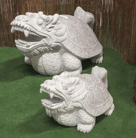 """Granitstein """"Drachenschildkröte"""" groß"""