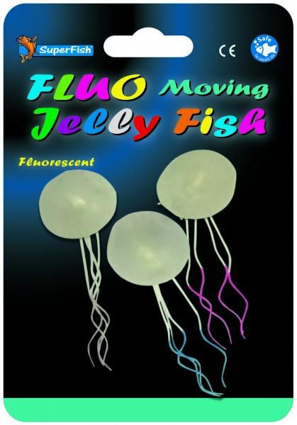 Superfish Fluo Deko 3 bewegliche Quallen
