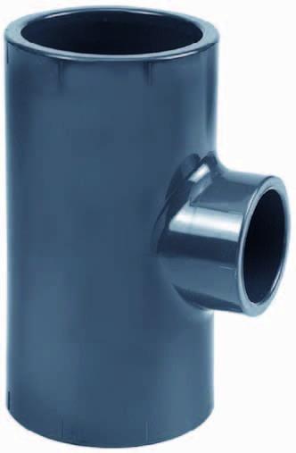 PVC-T-Stück 90° reduziert d 90x75x90