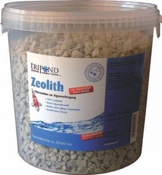 Tripond Zeolith 10 Liter (9,5 kg) 10 Liter Eimer inkl. praktischem Filtersack