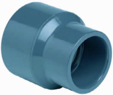 PVC - Reduziermuffe Ø 110/125 x 75 mm