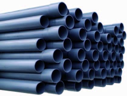PVC-Rohr Ø 90 mm (Länge: 1,0 m) ohne Klebemuffe