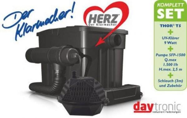 Söll Thor T5 Komplett Filter-Set mit Pumpe und UVC, HERZ-Technologie für Teiche bis 5000L
