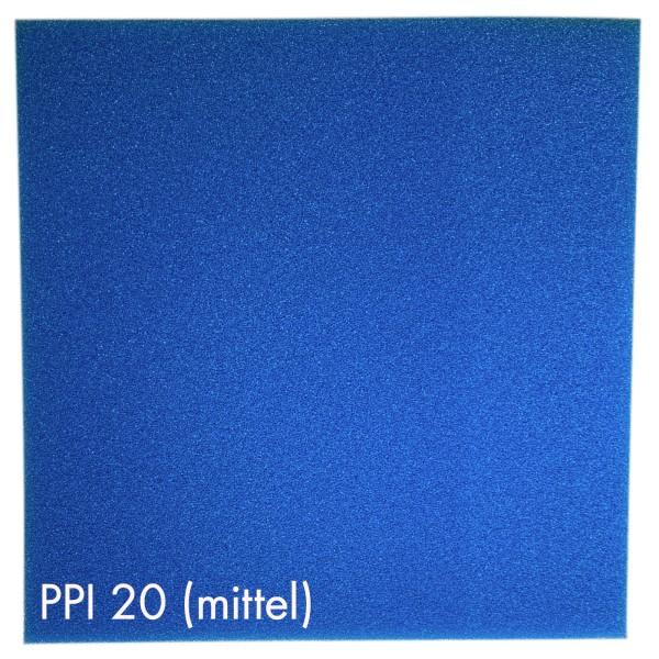Pondlife Teich - Filterschaum / Filtermatte blau 50 x 50 x 3 cm mittel PPI20
