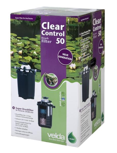 Velda Clear Control 50 Druckfilter + UVC-Einheit 18Watt