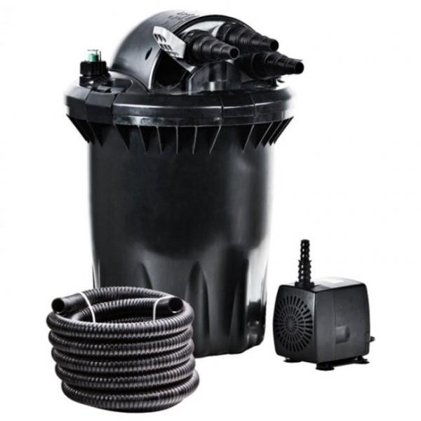 Heissner Druckfilter-Komplett-Set inkl. Pumpe, UV-C Klärer und Schlauch FPU7500-00