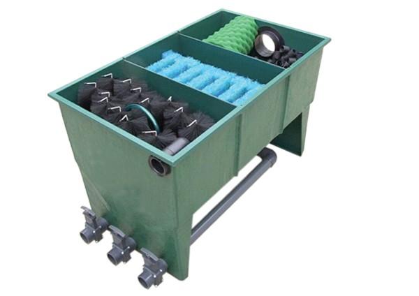 Pondlife GFK 3-Kammer-Vortex Filter bis 30.000 Liter (inkl. Deckel, Filtermaterial + Verrohrung)