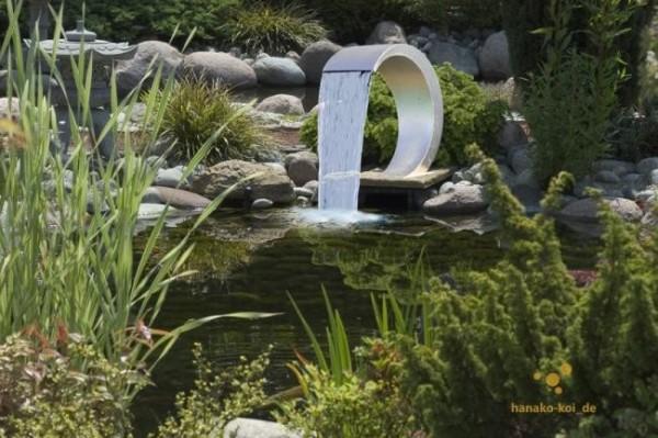 Ubbink MAMBA Design Edelstahl Wasserfall für Teiche und Pools
